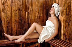 cheap escorts - leggy girl in a sauna